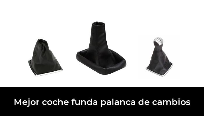 AERZETIX gris oscuro Funda para palanca de cambios automatico y freno de mano de piel sint/ética con costuras de colores variables